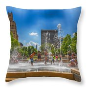Splashville Of Asheville Throw Pillow