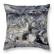 Splashy Incantations Of A Momenary Water Sculpture Throw Pillow