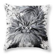 Splat Cat Throw Pillow
