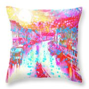 Splat In Italian Silk Throw Pillow