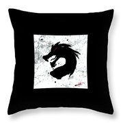 Splat O Dragon Throw Pillow