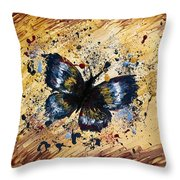 Splatter Butterfly Throw Pillow