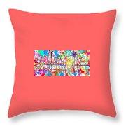 Splatter Paint Throw Pillow