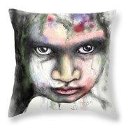 Splattered Stare Throw Pillow