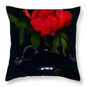 Splendid Peony In Vase. Throw Pillow