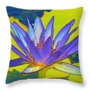 Splendid Water Lily Throw Pillow