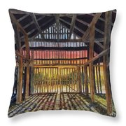 Splendor In The Barn Throw Pillow