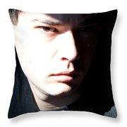 Split Face Throw Pillow