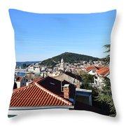 Split Panorama Throw Pillow