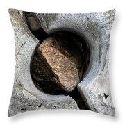Split Pothole, River Coupall, Scotland Throw Pillow