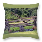 Split Rail Throw Pillow