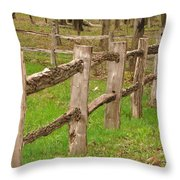 Split Rail Fence Throw Pillow