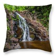 Split Rock Falls Throw Pillow