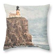 Split Rock Light House 4  Throw Pillow