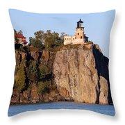 Split Rock Lighthouse  9321 Throw Pillow