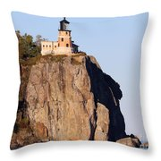 Split Rock Lighthouse Crop 9321 Throw Pillow