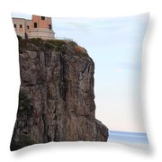 Split Rock Lighthouse Five Throw Pillow