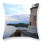 Split Rock Lighthouse Four Throw Pillow