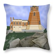 Split Rock Lighthouse On The Great Lakes Throw Pillow