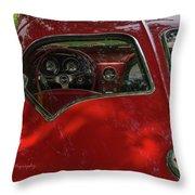 Split Roof Corvette Throw Pillow