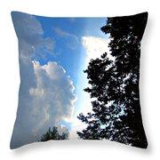 Split Sky Throw Pillow