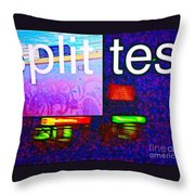 Split Test Throw Pillow