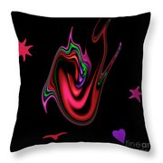Split Tongue Throw Pillow