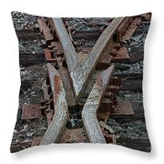 Split Track Throw Pillow
