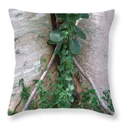 Split Tree Throw Pillow