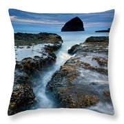 Splitting Stone Throw Pillow