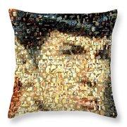 Spock Star Trek Mosaic Throw Pillow by Paul Van Scott