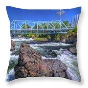 Spokane Falls 2 Throw Pillow