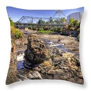 Spokane Falls Throw Pillow