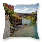 Spokane River Throw Pillow
