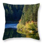Spokane Rivereflections Throw Pillow