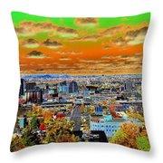 Spokane Washington Earth Throw Pillow