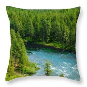 Spokane...the River And The City Throw Pillow