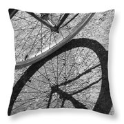 Spoke Shadows Throw Pillow