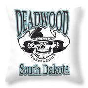 Spokes And Spurs Throw Pillow