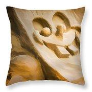 Sponge Bob Blue Water Sand Sculpture Throw Pillow