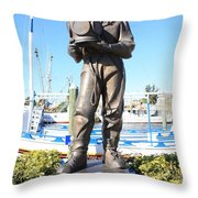 Sponge Diver Memorial Throw Pillow