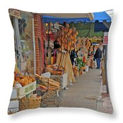 Sponge Market Throw Pillow