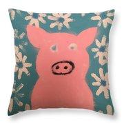 Sponge Pig Throw Pillow