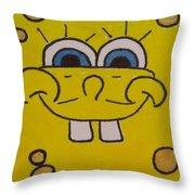 Sponge Square Yellow Brown Pants Cartoon Throw Pillow
