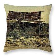 Spooky Broken House Throw Pillow
