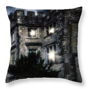 Spooky Castle Throw Pillow