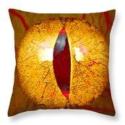 Spooky Cat Eye Throw Pillow