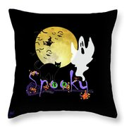 Spooky Halloween Throw Pillow