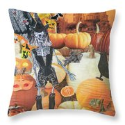 Spooky Harvest Throw Pillow
