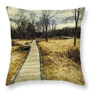 Spooky Hike On The Appalachian Trail Throw Pillow